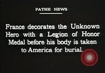 Image of American Unknown Soldier honored in France and transported to America France, 1921, second 62 stock footage video 65675021987