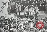 Image of first burial ceremony at Tomb of the Unknown Soldier Arlington Virginia USA, 1921, second 12 stock footage video 65675021991