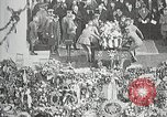 Image of first burial ceremony at Tomb of the Unknown Soldier Arlington Virginia USA, 1921, second 15 stock footage video 65675021991