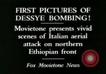 Image of Italian air attack Dessey Ethiopia, 1936, second 7 stock footage video 65675022041