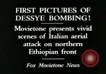 Image of Italian air attack Dessey Ethiopia, 1936, second 9 stock footage video 65675022041