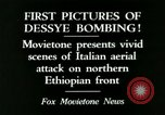 Image of Italian air attack Dessey Ethiopia, 1936, second 10 stock footage video 65675022041