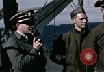 Image of British officers Atlantic Ocean, 1944, second 27 stock footage video 65675022052