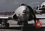 Image of Early flights of 1st US operational jet, P-80 shooting star United States USA, 1946, second 4 stock footage video 65675022068