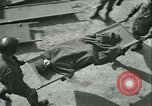 Image of victims of concentration camp Germany, 1945, second 14 stock footage video 65675022109