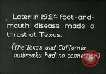 Image of foot and mouth disease United States USA, 1925, second 7 stock footage video 65675022116