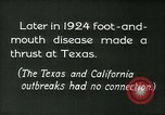 Image of foot and mouth disease United States USA, 1925, second 13 stock footage video 65675022116