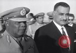 Image of Gen Ibrahim Abboud and King Hussein I Cairo Egypt, 1962, second 16 stock footage video 65675022135