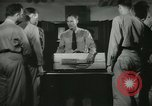 Image of Instructor demonstrating models of rifles Quantico Virginia USA, 1942, second 21 stock footage video 65675022167