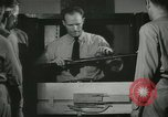 Image of Instructor demonstrating models of rifles Quantico Virginia USA, 1942, second 58 stock footage video 65675022167