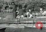Image of Japanese submarines scheduled for destruction Sasebo Bay Japan, 1946, second 48 stock footage video 65675022265