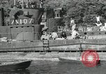 Image of Japanese submarines scheduled for destruction Sasebo Bay Japan, 1946, second 49 stock footage video 65675022265