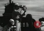 Image of Officers on Japanese submarine plot position and navigate Indian Ocean, 1942, second 20 stock footage video 65675022283
