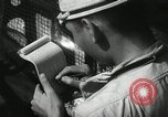 Image of Officers on Japanese submarine plot position and navigate Indian Ocean, 1942, second 31 stock footage video 65675022283