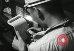 Image of Officers on Japanese submarine plot position and navigate Indian Ocean, 1942, second 36 stock footage video 65675022283