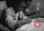 Image of Officers on Japanese submarine plot position and navigate Indian Ocean, 1942, second 39 stock footage video 65675022283