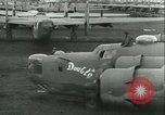 Image of World War 2 aircraft being stored and salvaged Tucson Arizona USA, 1947, second 44 stock footage video 65675022355