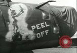 Image of World War 2 aircraft being stored and salvaged Tucson Arizona USA, 1947, second 58 stock footage video 65675022355