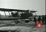 Image of bi-winged Letord aircraft Gironde France, 1918, second 53 stock footage video 65675022376