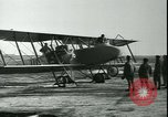 Image of bi-winged Letord aircraft Gironde France, 1918, second 55 stock footage video 65675022376