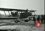 Image of bi-winged Letord aircraft Gironde France, 1918, second 56 stock footage video 65675022376