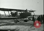 Image of bi-winged Letord aircraft Gironde France, 1918, second 58 stock footage video 65675022376