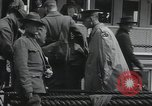 Image of Wounded US Army soldiers disembark from a steamer New York City Harbor USA, 1919, second 35 stock footage video 65675022382