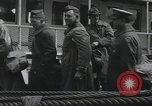 Image of Wounded US Army soldiers disembark from a steamer New York City Harbor USA, 1919, second 45 stock footage video 65675022382