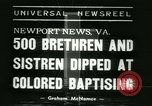 Image of Bishop C M Grace Newport News Virginia USA, 1938, second 4 stock footage video 65675022390