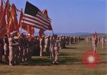 Image of Major General Kyle and General Sawyer Camp Pendleton California USA, 1967, second 47 stock footage video 65675022397