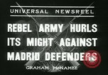 Image of Workers Militiamen and rebel army Madrid Spain, 1936, second 2 stock footage video 65675022413