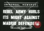 Image of Workers Militiamen and rebel army Madrid Spain, 1936, second 8 stock footage video 65675022413