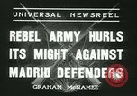 Image of Workers Militiamen and rebel army Madrid Spain, 1936, second 9 stock footage video 65675022413