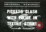 Image of Labor strike workers clash with police Wyomissing Pennsylvania USA, 1936, second 1 stock footage video 65675022415