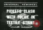 Image of Labor strike workers clash with police Wyomissing Pennsylvania USA, 1936, second 11 stock footage video 65675022415