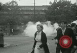 Image of Labor strike workers clash with police Wyomissing Pennsylvania USA, 1936, second 42 stock footage video 65675022415