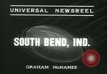 Image of Notre Dame versus Carnegie Tech football South Bend Indiana USA, 1936, second 4 stock footage video 65675022420