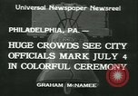 Image of Independence Day ceremony Philadelphia Pennsylvania USA, 1934, second 1 stock footage video 65675022431