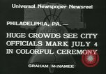 Image of Independence Day ceremony Philadelphia Pennsylvania USA, 1934, second 10 stock footage video 65675022431