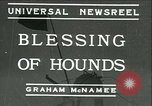 Image of Blessing of the hounds opens Fall Fox Hunt Lexington Kentucky USA, 1934, second 1 stock footage video 65675022434