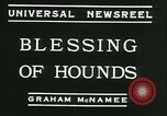 Image of Blessing of the hounds opens Fall Fox Hunt Lexington Kentucky USA, 1934, second 9 stock footage video 65675022434