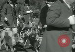 Image of Blessing of the hounds opens Fall Fox Hunt Lexington Kentucky USA, 1934, second 17 stock footage video 65675022434