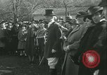 Image of Blessing of the hounds opens Fall Fox Hunt Lexington Kentucky USA, 1934, second 37 stock footage video 65675022434