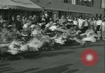 Image of mechanical hobby-horse race Santa Monica California USA, 1934, second 9 stock footage video 65675022442