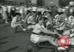 Image of mechanical hobby-horse race Santa Monica California USA, 1934, second 11 stock footage video 65675022442