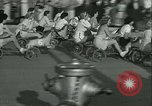 Image of mechanical hobby-horse race Santa Monica California USA, 1934, second 13 stock footage video 65675022442