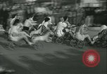 Image of mechanical hobby-horse race Santa Monica California USA, 1934, second 14 stock footage video 65675022442