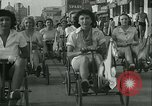 Image of mechanical hobby-horse race Santa Monica California USA, 1934, second 16 stock footage video 65675022442
