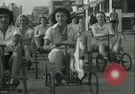 Image of mechanical hobby-horse race Santa Monica California USA, 1934, second 18 stock footage video 65675022442