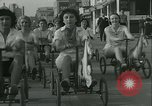 Image of mechanical hobby-horse race Santa Monica California USA, 1934, second 19 stock footage video 65675022442